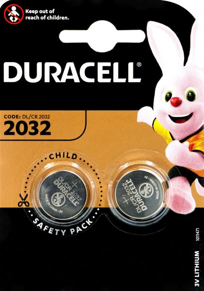 Duracell CR 2032, 3 V, 2-count