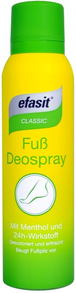 Efasit Classic Foot Deodorising Spray, 150 ml