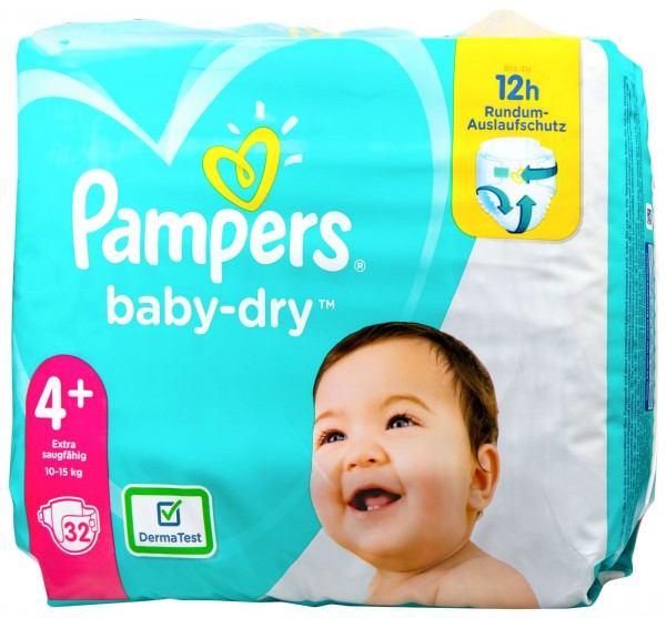Pampers Baby Dry Nappies (10-15 kg), 32-count