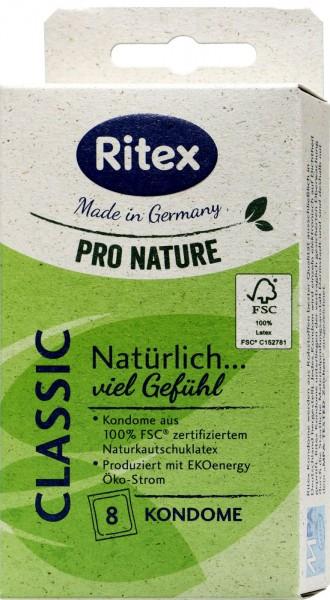 Ritex Pro Nature Condoms Classic, 8-count