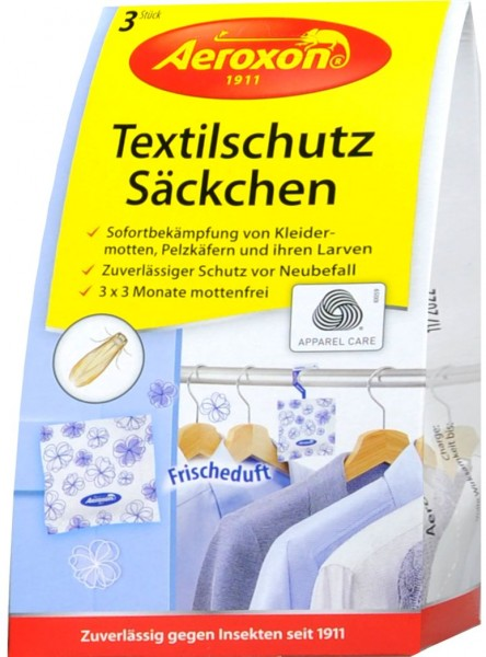 Aeroxon Textile Protection Sachets, Fresh scent, 3-count