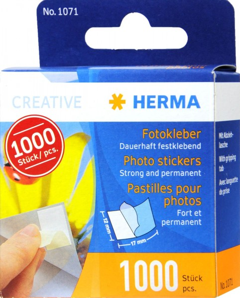 Herma Photo Adhesive 1071, 1000-count