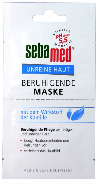 Sebamed Blemished Skin Soothing Mask, 2 x 5 ml