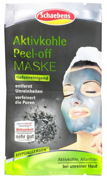 Schaebens Activated Charcoal Peel-Off Mask, 16 ml