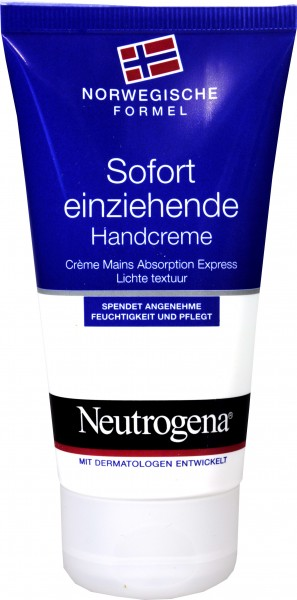 Neutrogena Fast Absorbing Hand Cream, 75 ml