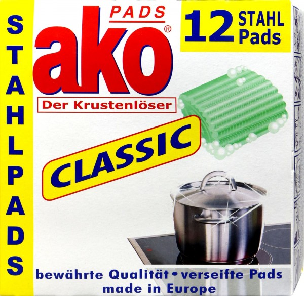 Ako Stainless Steel Pads, 12-pack