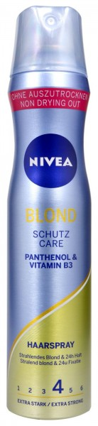 Nivea Blonde Hairstyling Spray, 250 ml
