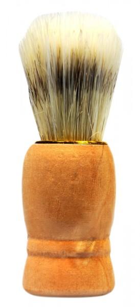 Shaving Brush, wood with gold ring, 9 cm