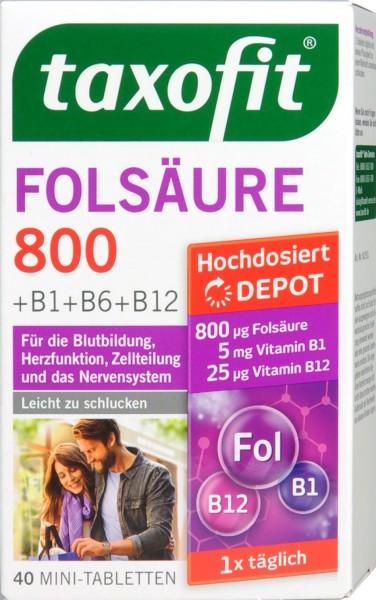 Taxofit Folic Acid and Vitamins B1, B6, B12, 40-count
