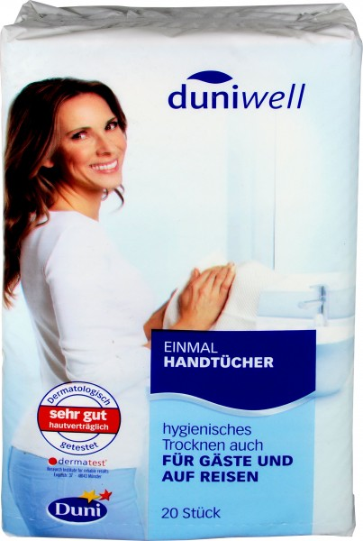 Duniwell Disposable Hand Wipes, 20-pack