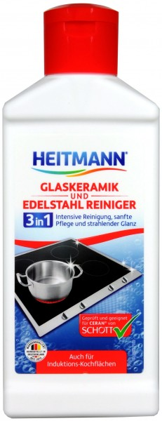 Heitmann Ceramic Glass and Stainless Steel Cleaner, 250 ml