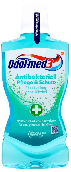 Odol Med 3 Mouthwash Antibacterial without alcohol, 500 ml