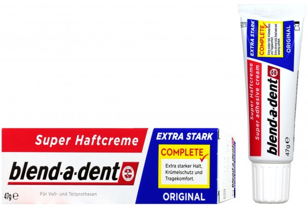 Blend-a-Dent Super Extra Strong Denture Adhesive Cream, 47 g