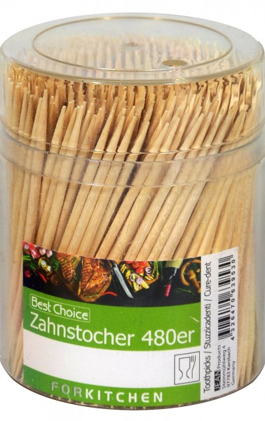 Toothpicks in Round Dispenser, 480-count