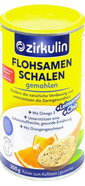 Zirkulin Ground Psyllium Orange, 200 g