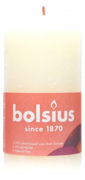 Bolsius Pillar Candle, Rustic Ivory, 13 x 7 cm