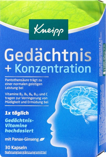 Kneipp Memory & Concentration Capsules, 30-count