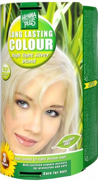 Hennaplus Long Lasting Brightener, Silver Blonde, 10.01
