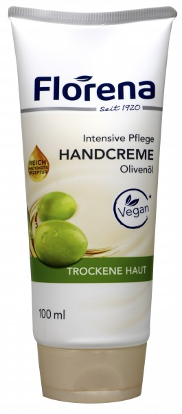 Florena Olive Oil Hand Cream, tube, 100 ml