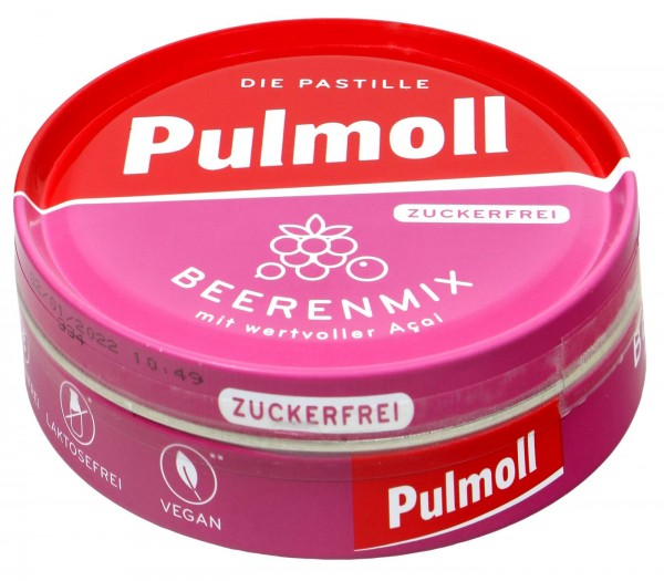 Pulmoll Beerenmix Sugar Free, 50 g