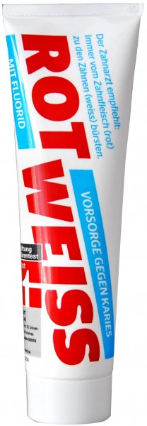 Rot-Weiss Toothpaste with Fluoride, 100 ml