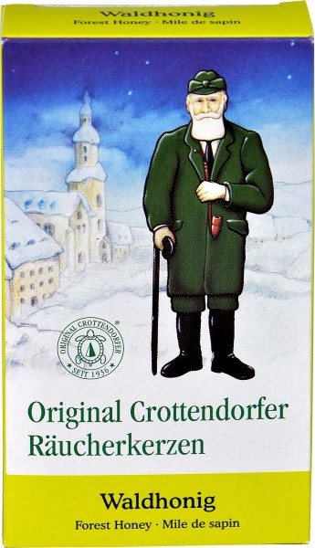 Crottendorfer Incense Candles, Forest Honey, 24-pack