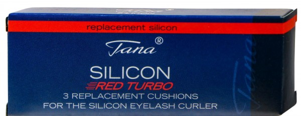 Tana replacement pads for eyelash curler Silicone Red Turbo, 3 pack