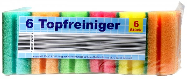 colored/assorted Sponge, 6-pack
