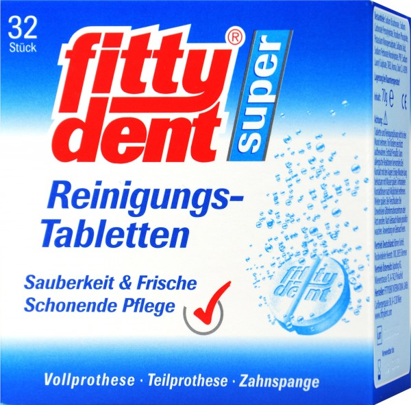 Fittydent Super Cleaning Tablets, 32-count