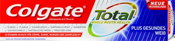 Colgate Total Plus Whitening Toothpaste, 75 ml