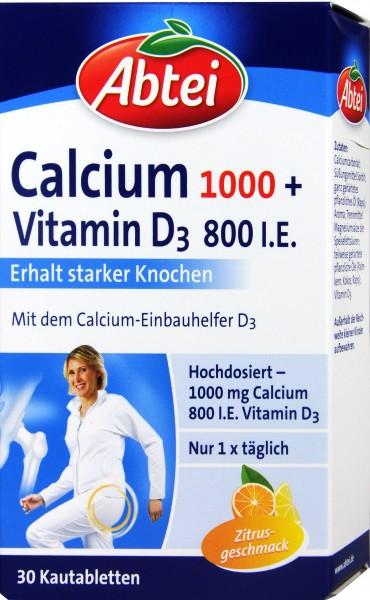 Abtei Calcium 1000 + D3 Osteo Vital, 30-count