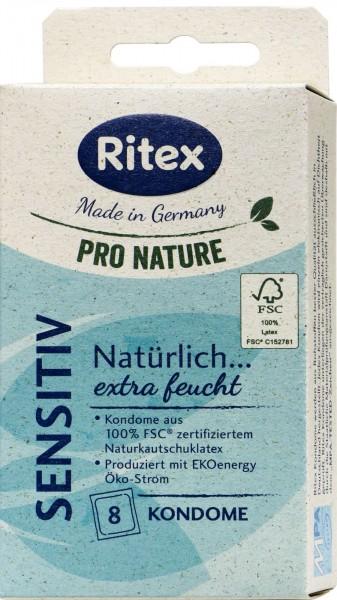 Ritex Pro Nature Condoms Sensitive, 8-count