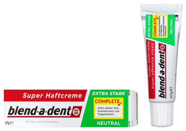 Blend-a-Dent Super Extra Strong Neutral Denture Adhesive Cream, 47 g