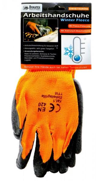 Work Glove Black / Orange With Lining,Duty Heavy, Universal