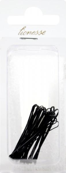 Hair Clips, black, 4.5 cm, 20-pack