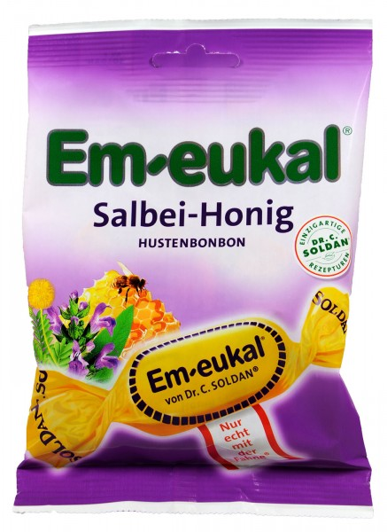 Em-Eukal Sage Honey Lozenges, 75 g