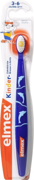 Elmex Children's Toothbrush, Age 3-6, Soft