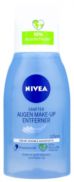 Nivea Visage Eye Makeup Remover, 125 ml