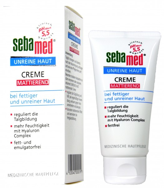 Sebamed Blemished Skin Mattifying Cream, 50 ml