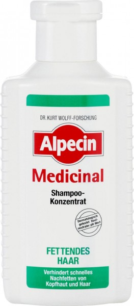 Alpecin Medicinal Shampoo Concentrate for Oily Hair, 200 ml