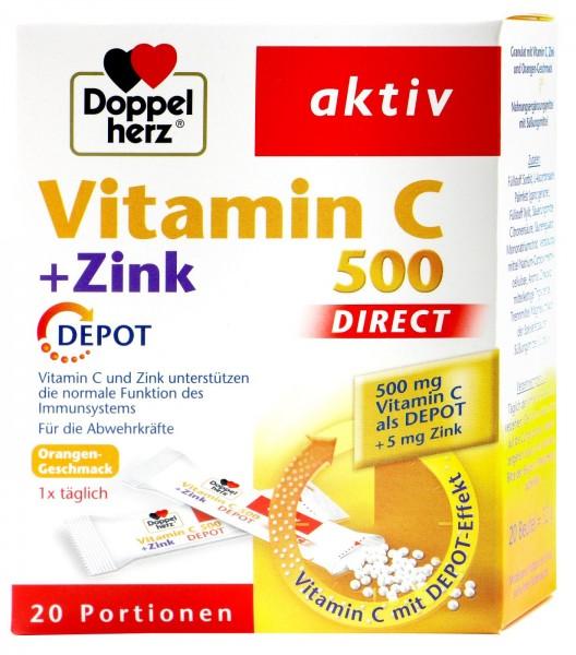 Doppelherz Vitamin C + Zinc Depot, 20-count