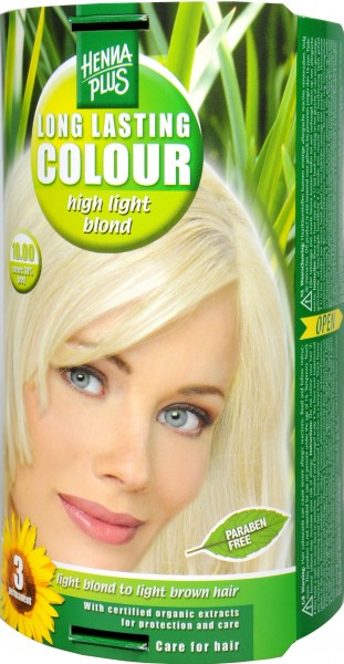 Hennaplus Long Lasting Brightener, Blonde, 10.00