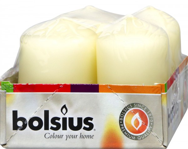 Bolsius Pillar Candle, Champagne, 4-pack, 60 x 40 mm