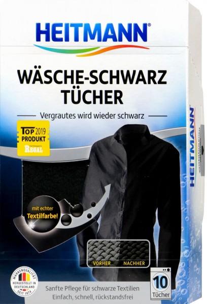 Heitmann Black Laundry Cloths, 10-pack