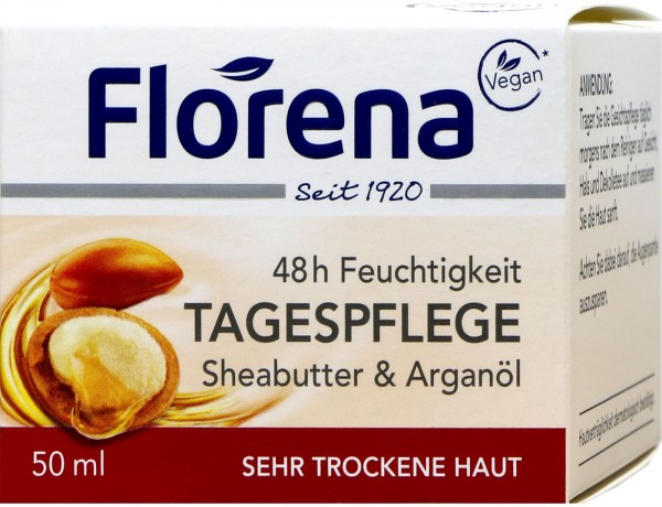 Florena Face Shea Butter Day Cream, 50 ml