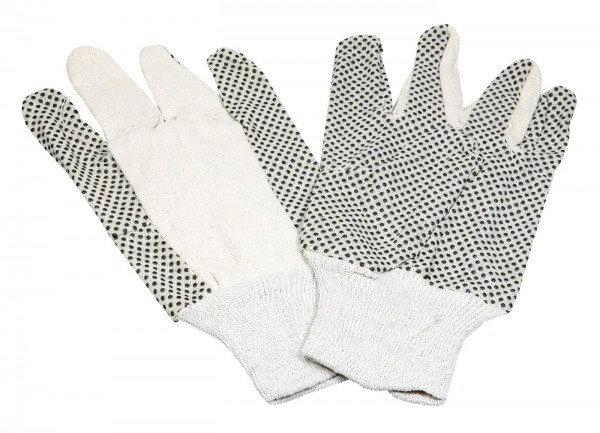 Gardening Glove With Knobs Grey With Elastic Cuff, Universal