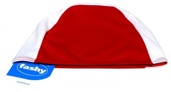Men's Fabric Swimming Cap, Red/White, 20900