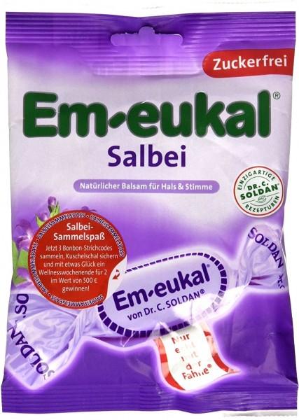 Em-Eukal Sage Lozenges, sugar-free, 75 g