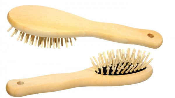 Wooden Hairbrush, oval, small, 7139