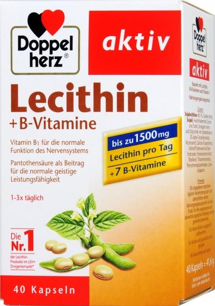 Doppelherz Lecithin + B Vitamins, 40-count